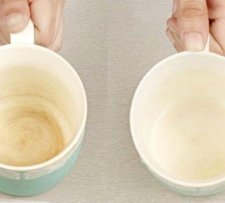 Εξαφανίστε τα αντιαισθητικά σημάδια καφέ από τα φλιτζάνια με ένα υλικό που έχετε στην κουζίνα σας - Funny-Περίεργα